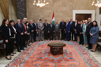 Official visits mark delegation's trip to Beirut